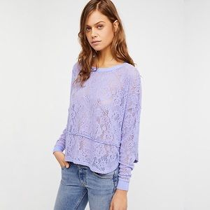 nwt | free people lilac 'not cold in this top'